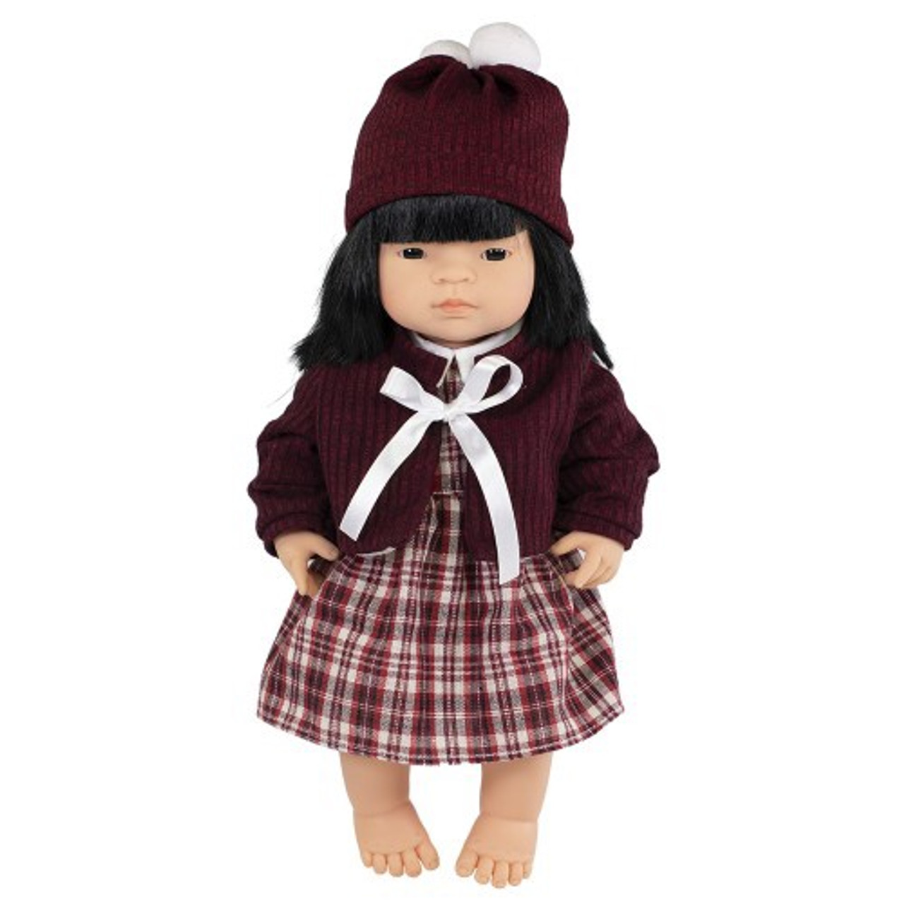 Miniland Doll Anatomically Correct Baby & Outfit Boxed 38 cm (UNDRESSED) - Asian Girl | Baby Barn Discounts