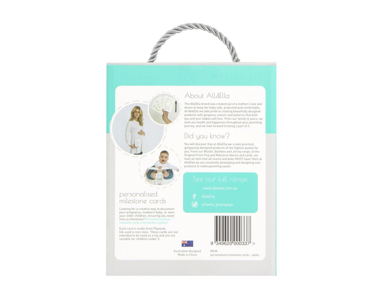 All4Ella Personalised Milestone Cards White with Erasable Marker at Baby Barn Discounts Milestone cards are a creative way to document pregnancy and a newborn baby ensuring a milestone is never missed