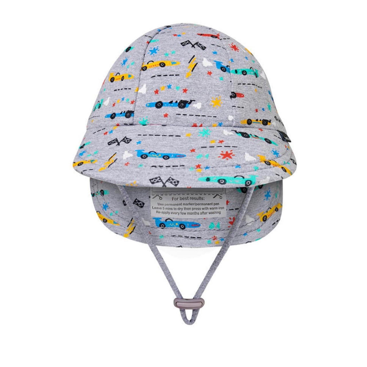 Bedhead Legionnaire Flap Hat - Racer - On your marks... little car fans will be racing to our site to snap up these racing car hats!