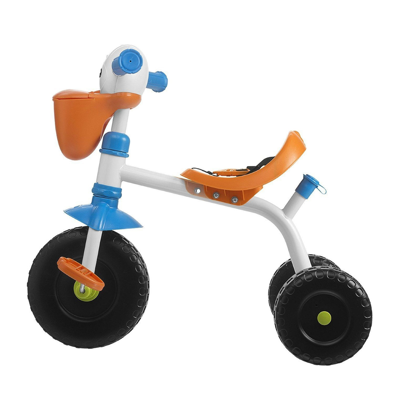 Chicco Toy Ride On 2 in 1 Pelican Trike at Baby Barn Discounts Chicco Pelican Trike 2 IN 1 Funny tricycle with the beak of a funny pelican and pedals with the shape of his paws.