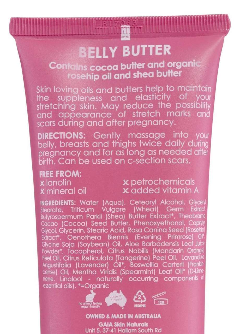 GAIA Belly Butter 150ml at Baby Barn Discounts GAIA Belly Butter is a rich cream that's specially formulated to maintain moisture.