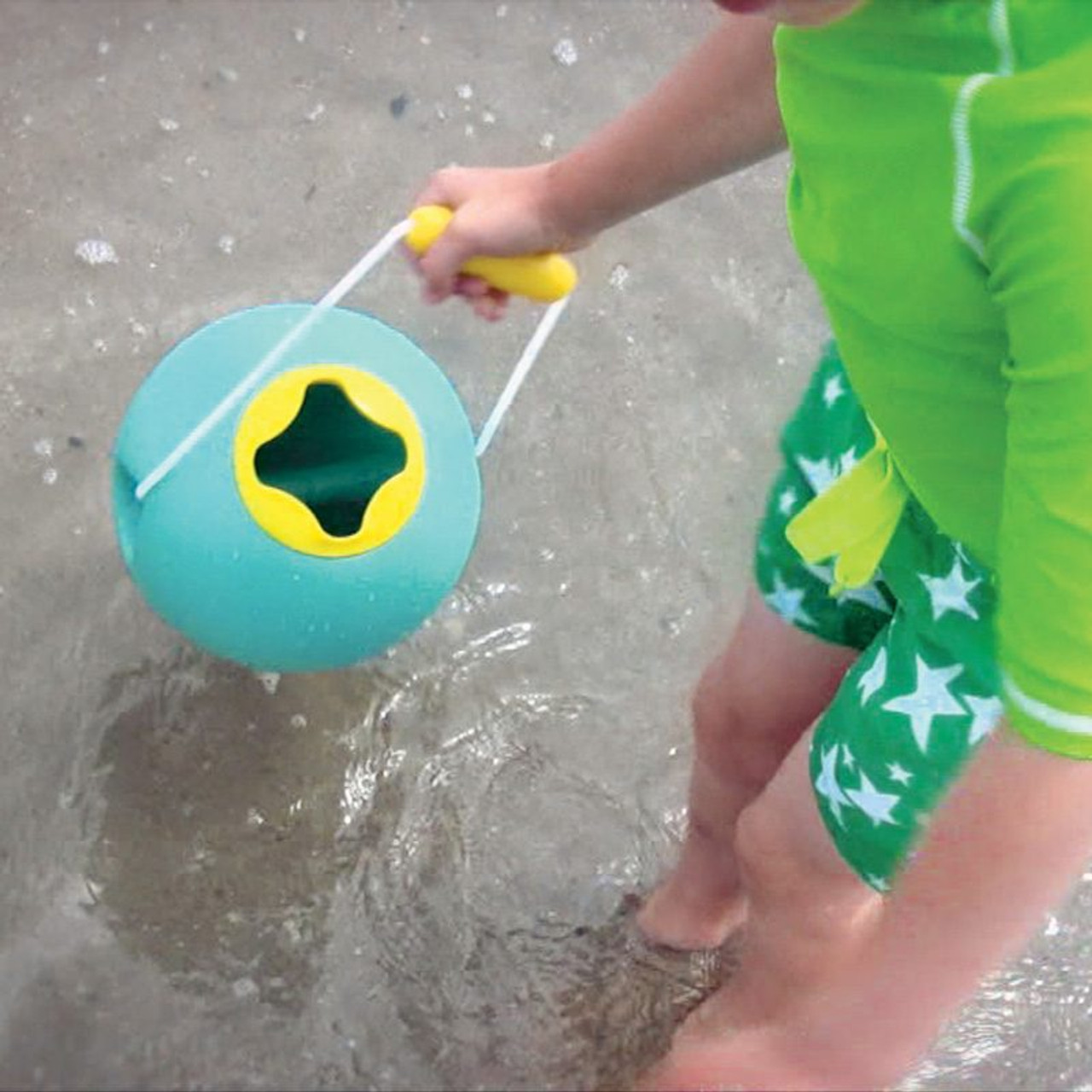 Quut Quutopia Ballo Lagoon Green at Baby Barn Discounts Quut Ballo smart design spherical shape beach bucket.