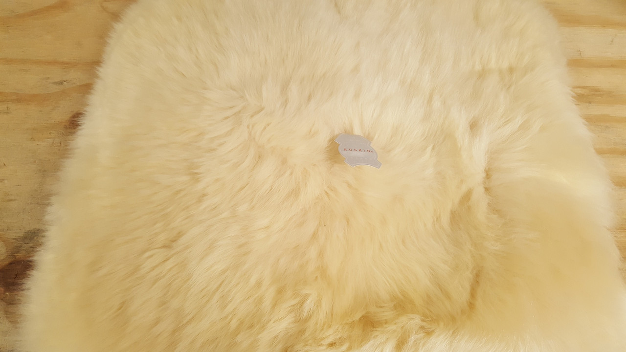 Long wool sheepskin chair pad suitable for any chair
