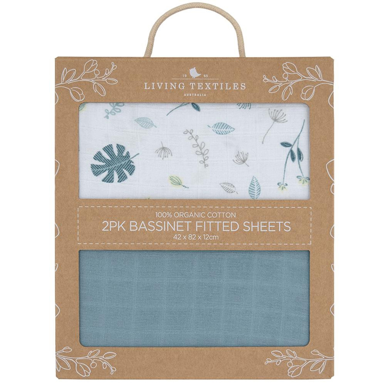 Living Textiles Organic Cotton Muslin Co-Sleeper Fitted Sheets 2pk at Baby Barn Discounts