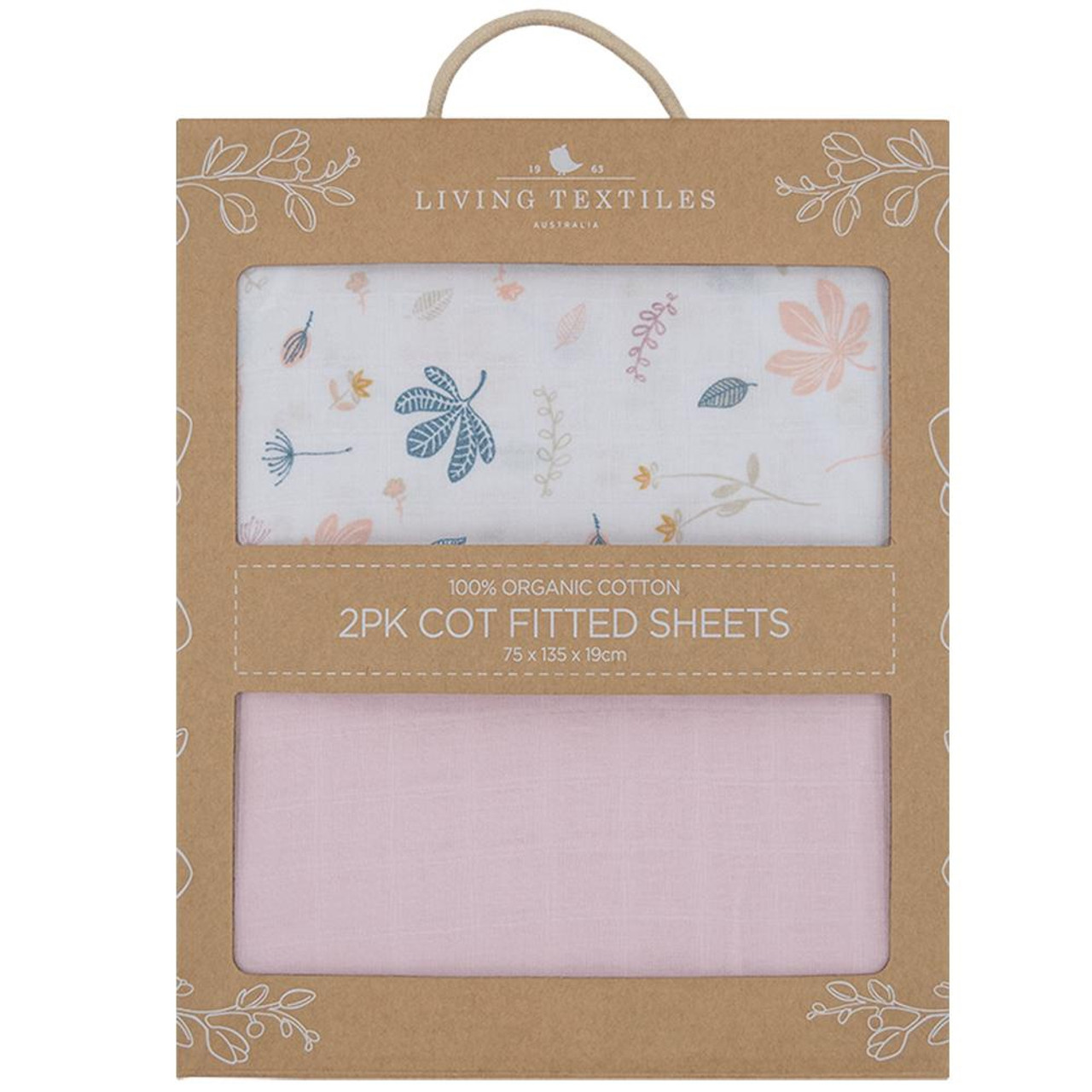 Living Textiles Organic Cotton Muslin Cot Fitted Sheets 2pk at Baby Barn Discounts Living Textiles's fitted sheets crafted from love and created for bliss these luxurious fitted cot sheets lay smooth beneath your little one