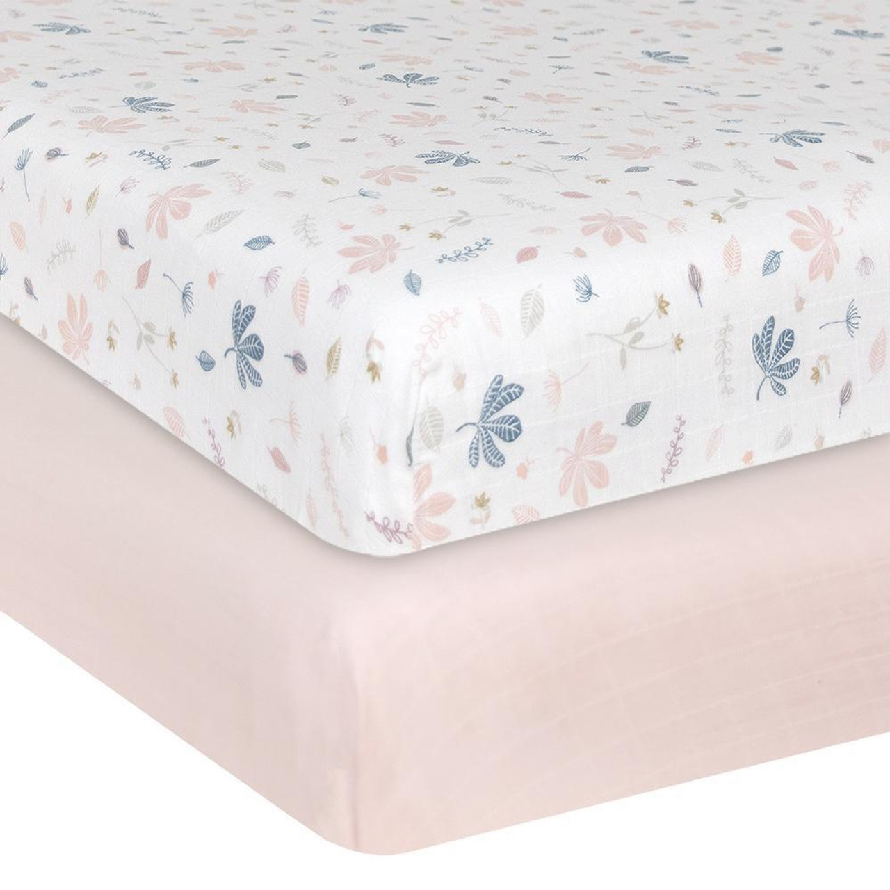 Living Textiles Organic Cotton Muslin Cot Fitted Sheets 2pk at Baby Barn Discounts