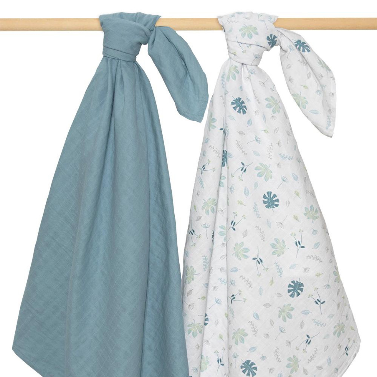 Living Textiles Organic Cotton 2pk Muslin Swaddles