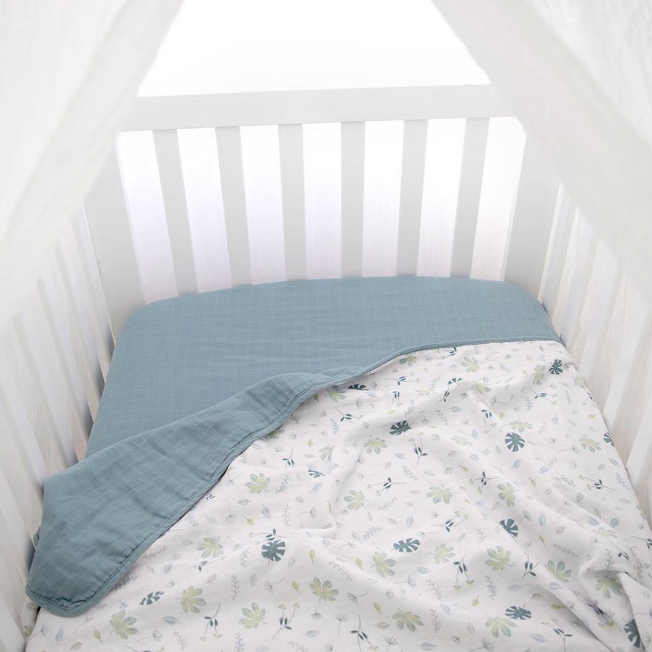 Living Textiles Organic Cotton Muslin Cot Blanket