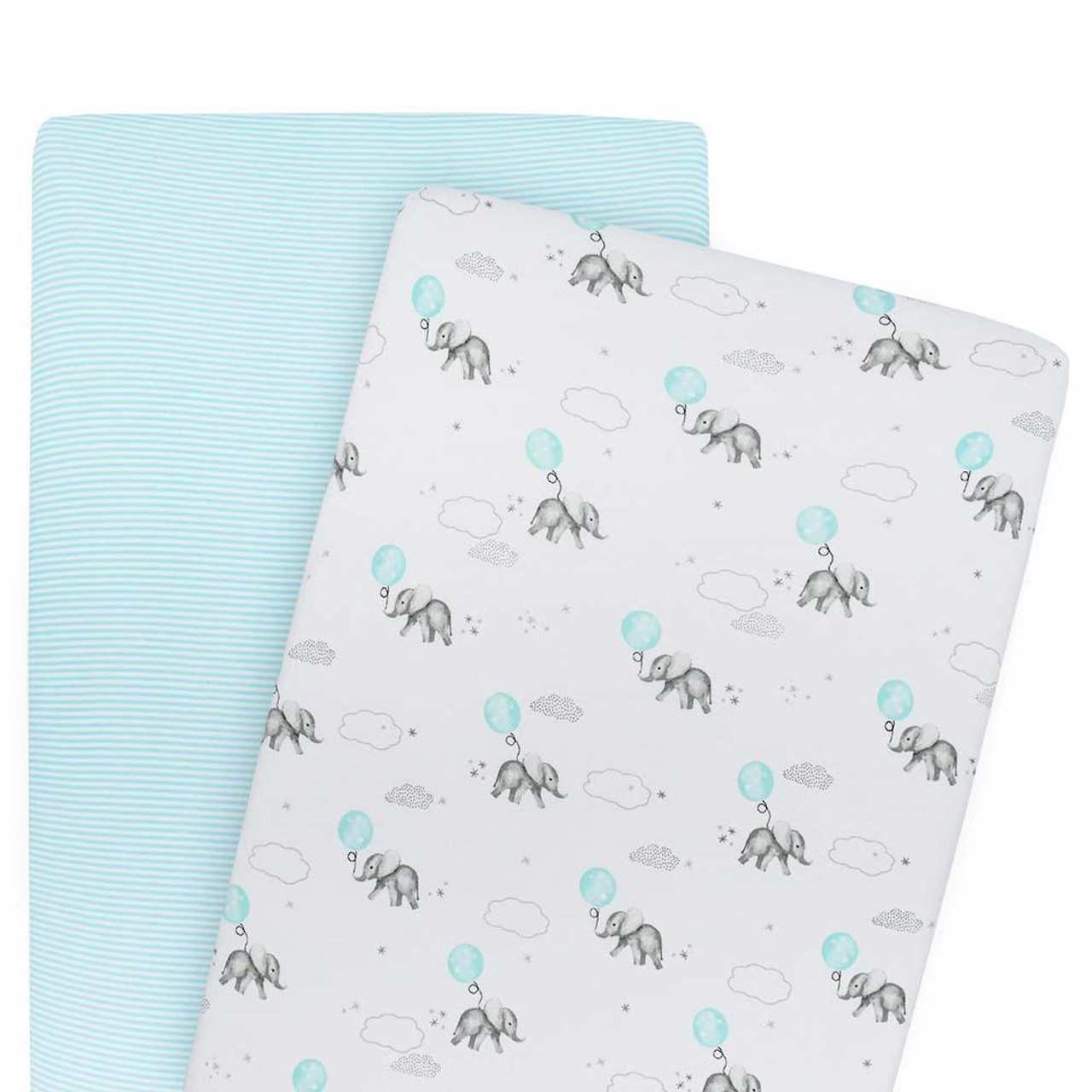 Living Textiles Cotton Cradle Fitted Sheet 2pk at Baby Barn Discounts Living Textile's fitted sheets crafted from soft and breathable premium 100% cotton jersey.