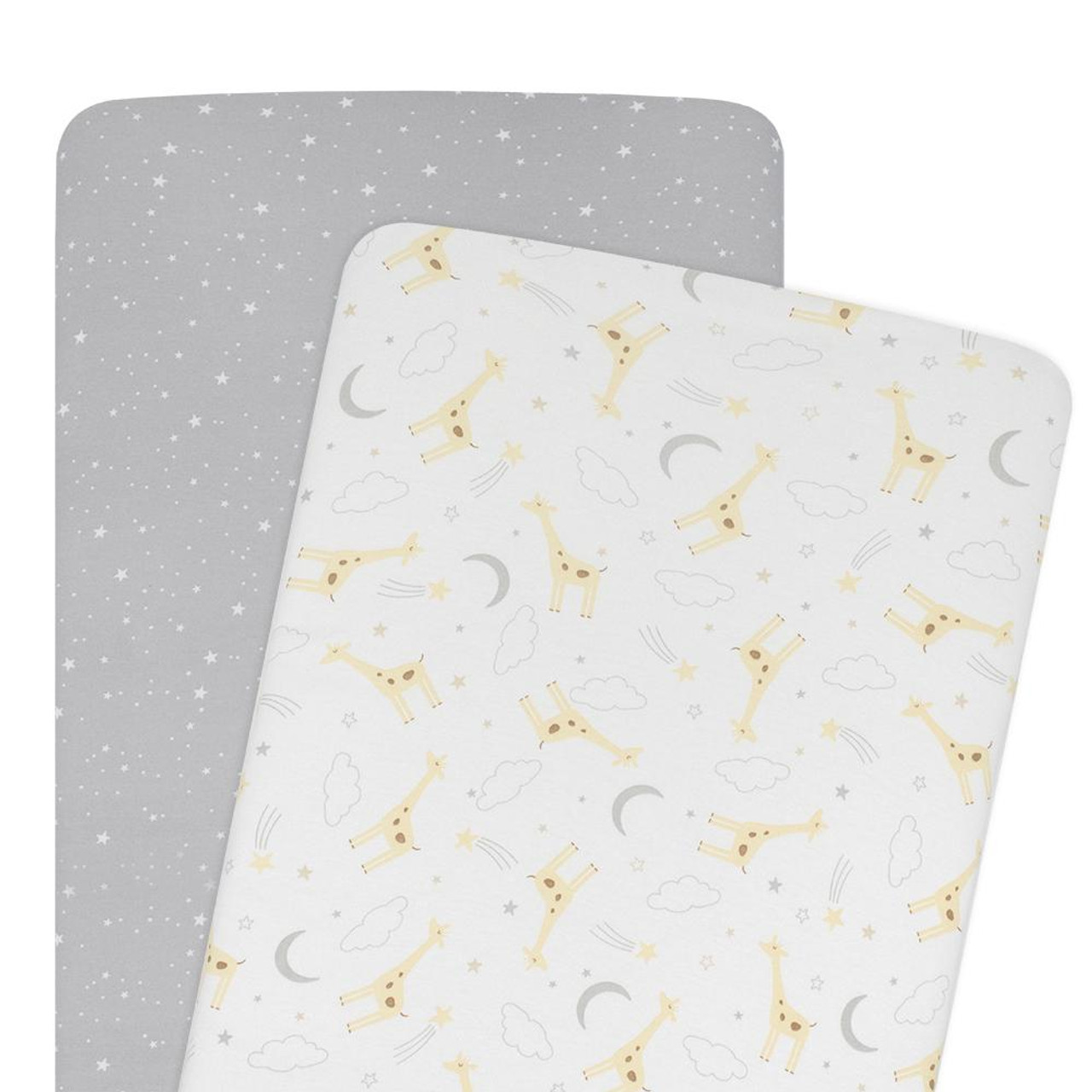 Living Textiles Cotton Cradle/ Co-sleeper Fitted Sheet 2pk at Baby Barn Discounts