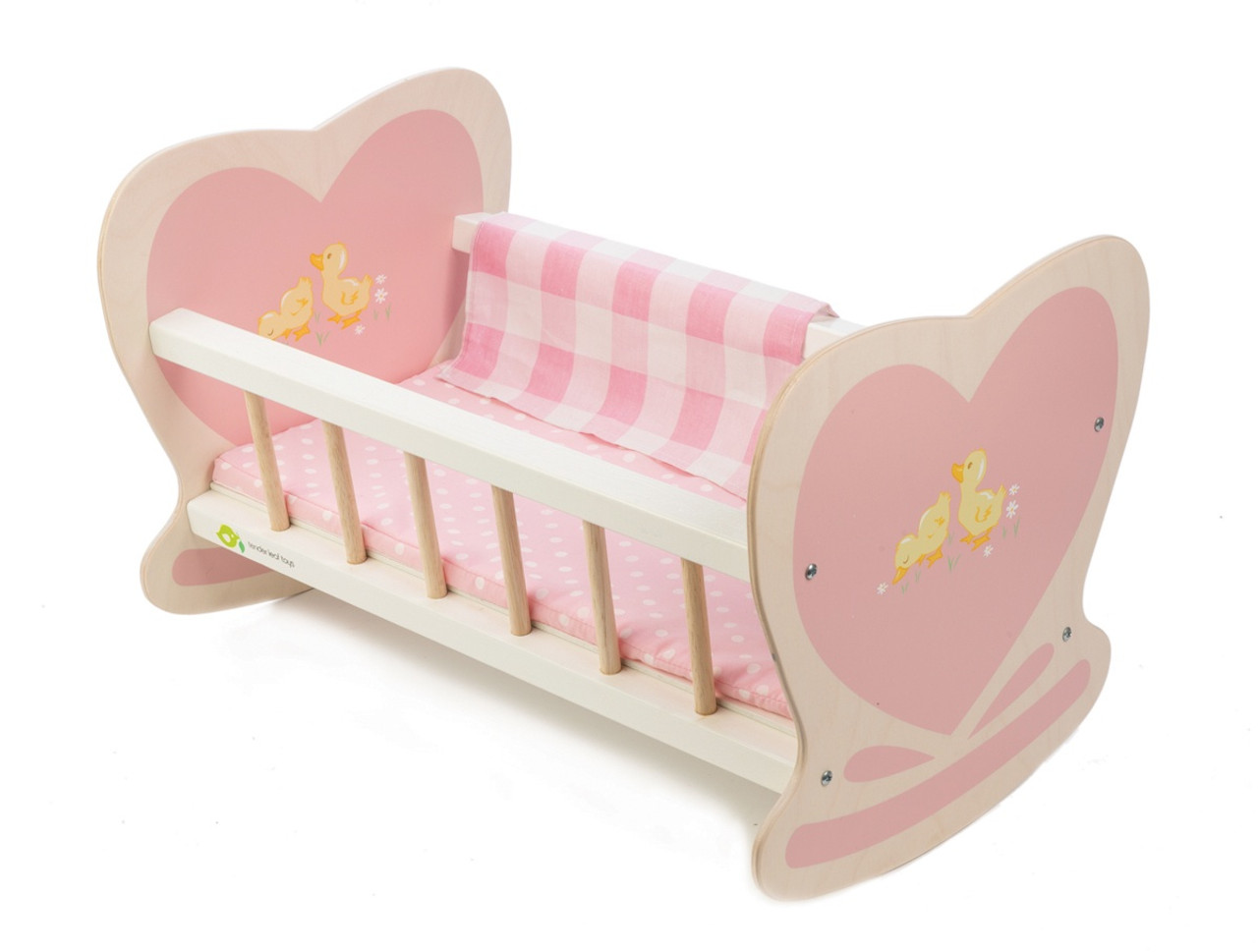 Tender Leaf Toys Sweetiepie Dooly Cot at Baby Barn Discounts Tender Leaf Toys Sweetiepie Dolly wooden cot bed is the cosiest place for your child's 'baby' to be gently rocked to sleep.