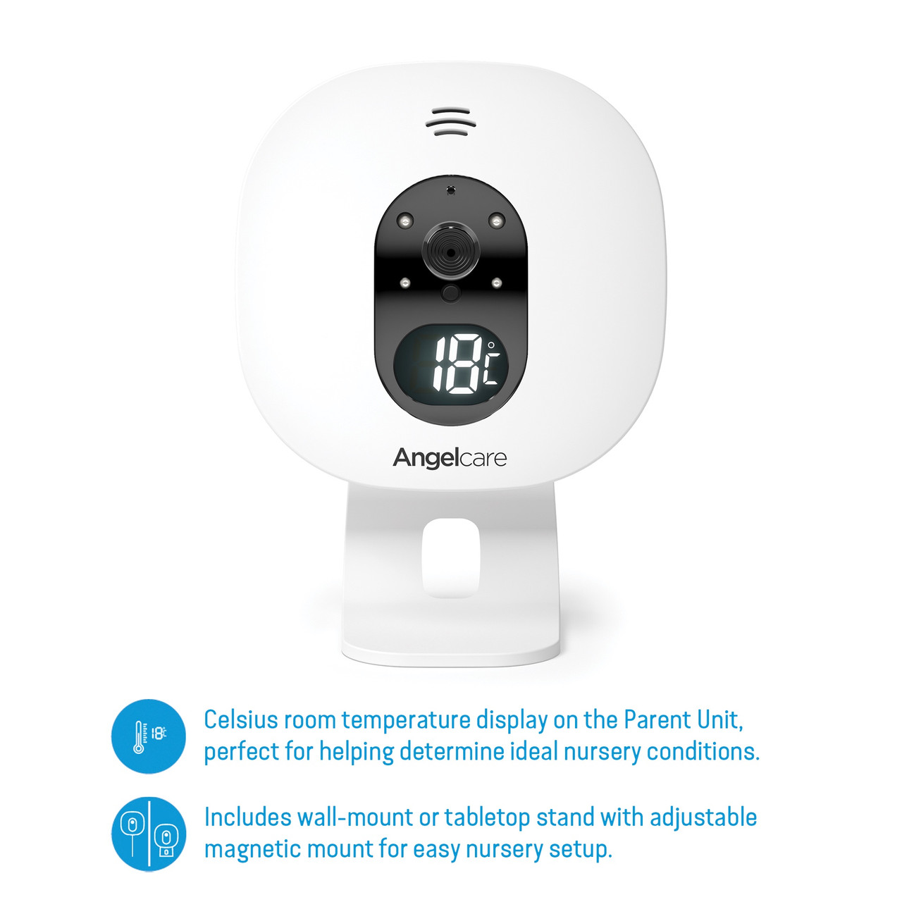 Angelcare Additional Camera for AC527/ AC327/ AC320 at Baby Barn Discounts Parents wanting to watch multiple babies from a single Parent Unit can conveniently pair a second Nursery Unit to their existing baby monitor.