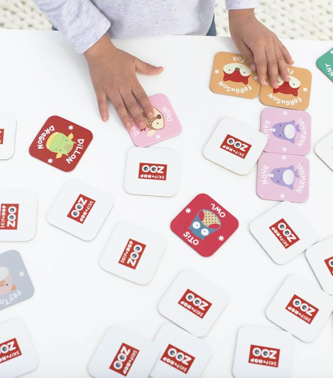 Skip Hop Zoo Crew Matching Memory Card Game at Baby Barn Discounts Skip Hop Zoo matching memory card encouraging memory, matching and turn-taking skills.