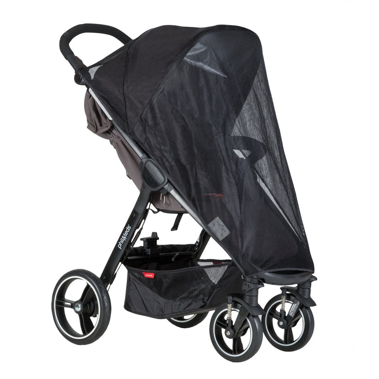 Phil & Teds Smart Single Sun Cover 2016 at Baby Barn Discounts Phil & Teds Smart pram accessories custom fit sun mesh cover for Smart buggy.