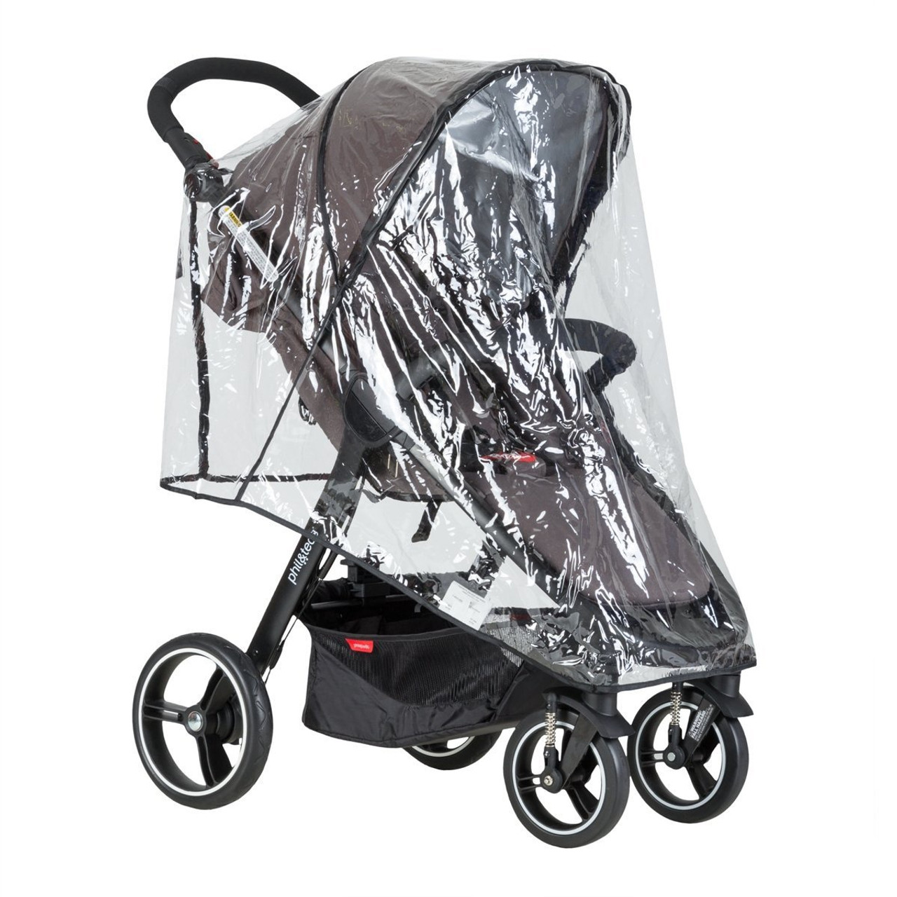 Phil & Teds Smart Single Storm Cover 2016 | Baby Barn Discounts Custom fit pram accessories storm rain cover for the Phil & teds Smart buggy.