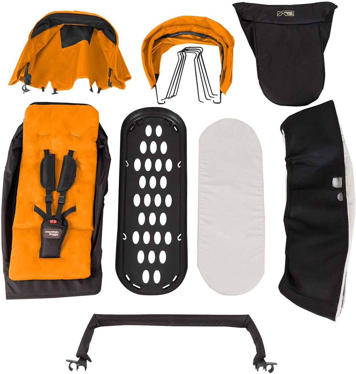 Phi&Teds Family Pack for 2014-2016 Duet as a Single- Orange Transform your Duet pram to grow with your family with the eye-catching addition of the family pack accessory!