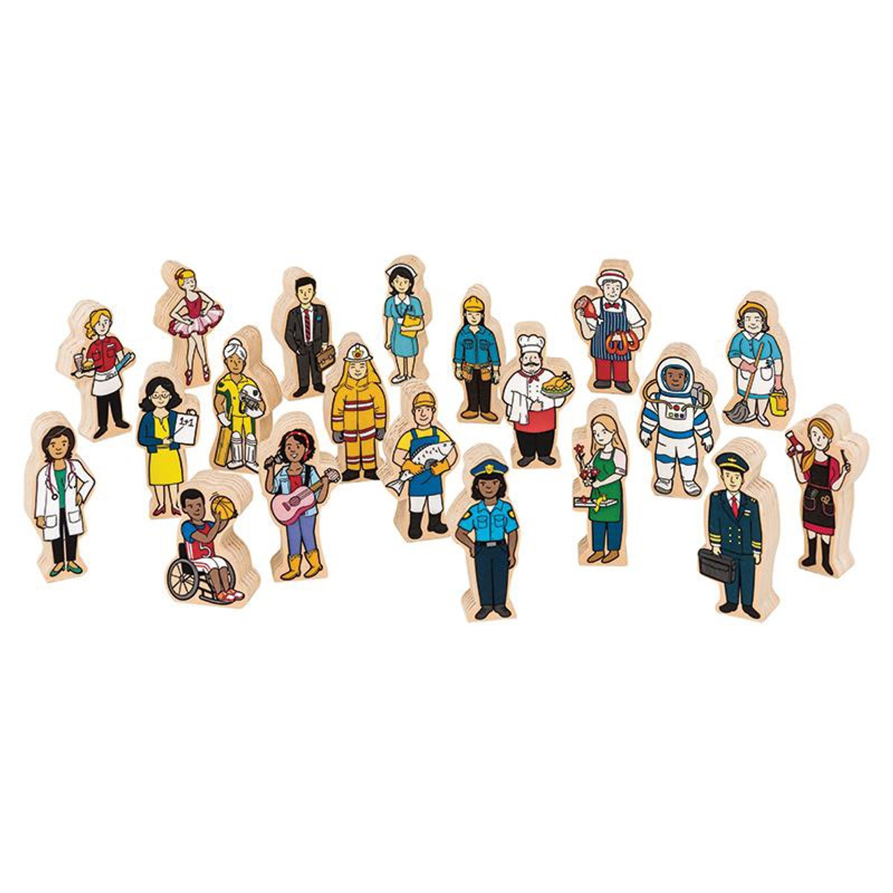 Fun Factory Wooden Multicultural People 20pcs at Baby Barn Discounts Fun Factory wooden people set includes 20 wooden pieces that are shaped to look like different people.