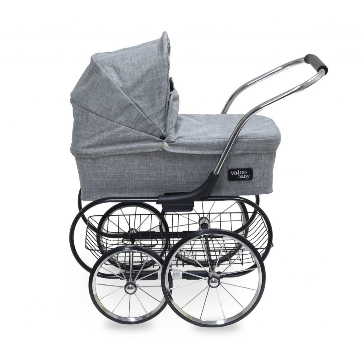 Valco Baby Royale Doll Stroller Grey Marle at Baby Barn Discounts Valco Baby Royale traditional and elegant style doll stroller is one of our most popular prams from our Just Like Mum range.