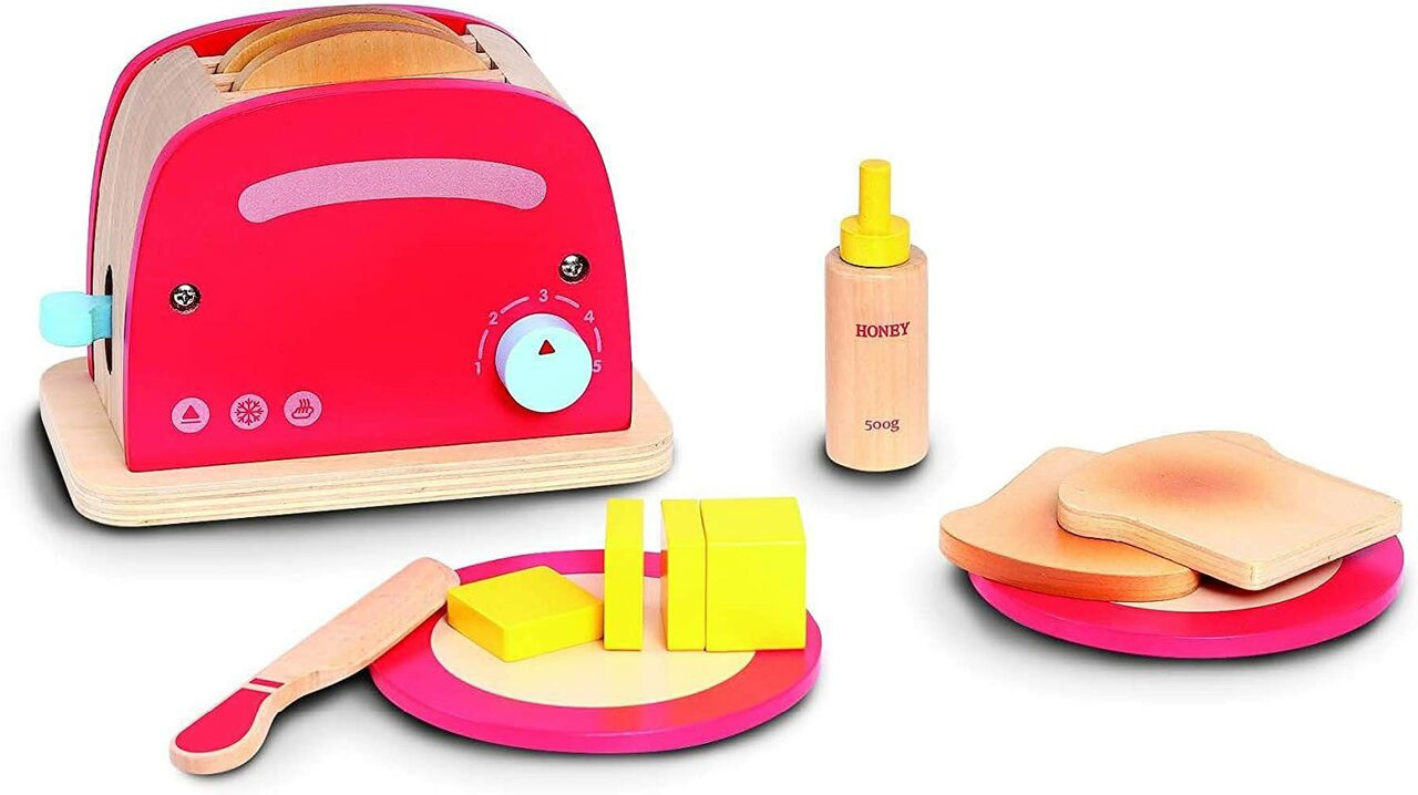Bubbadoo Wooden Toy Toaster at Baby Barn Discounts Start your day with a slice of toast with your Bubbadoo Wooden Toaster playset.