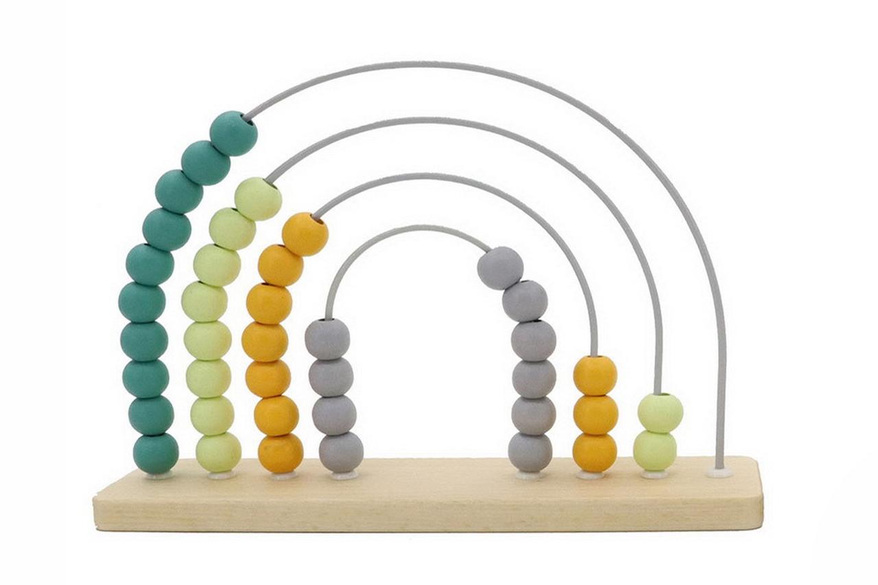 Kaper Kidz Calm & Breezy Rainbow Abacus at Baby Barn Discounts Kaper Kidz wooden abacus to teach them math.