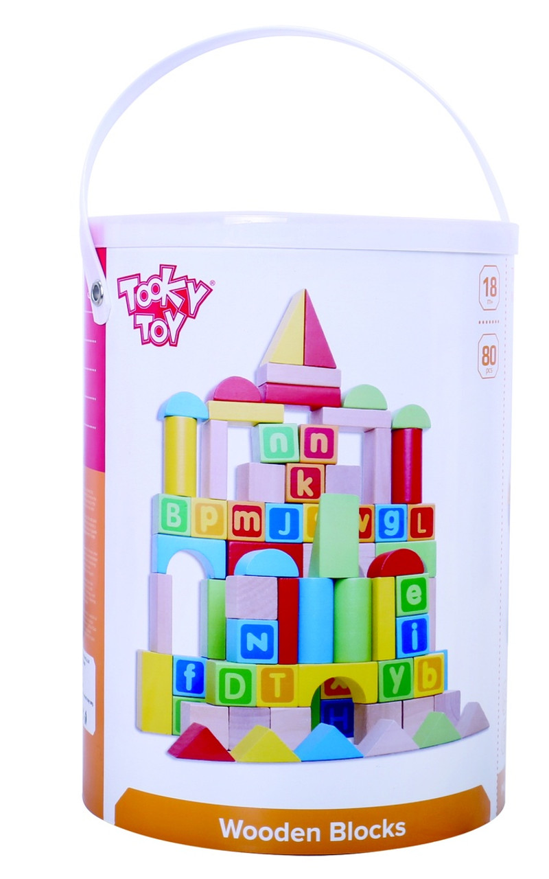 Tooky Toy Wooden Blocks 80pcs at Baby Barn Discounts Great 80 PCS Block set from Tooky Toy that comes in an easy to carry container.