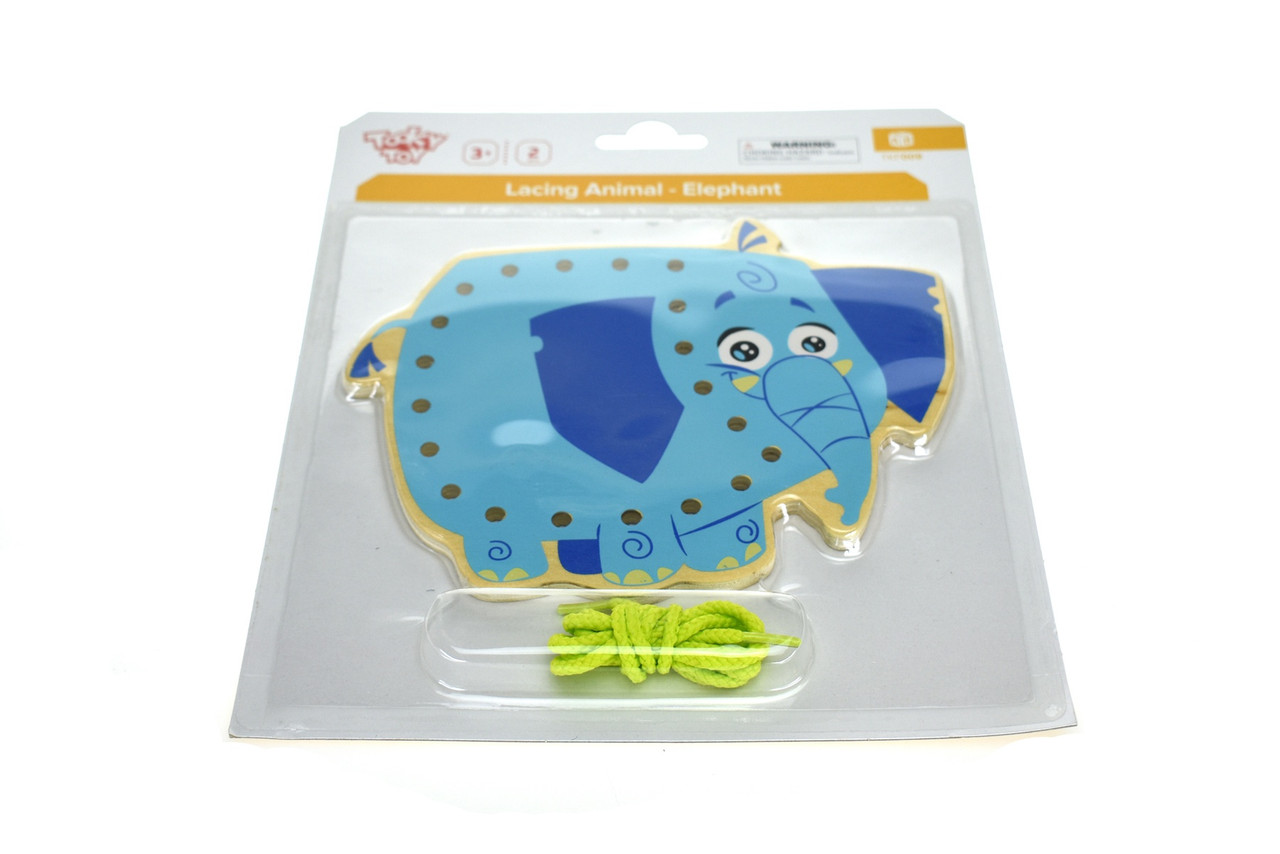 Tooky Toy Wooden Lacing Animal Elephant| Baby Barn Discounts