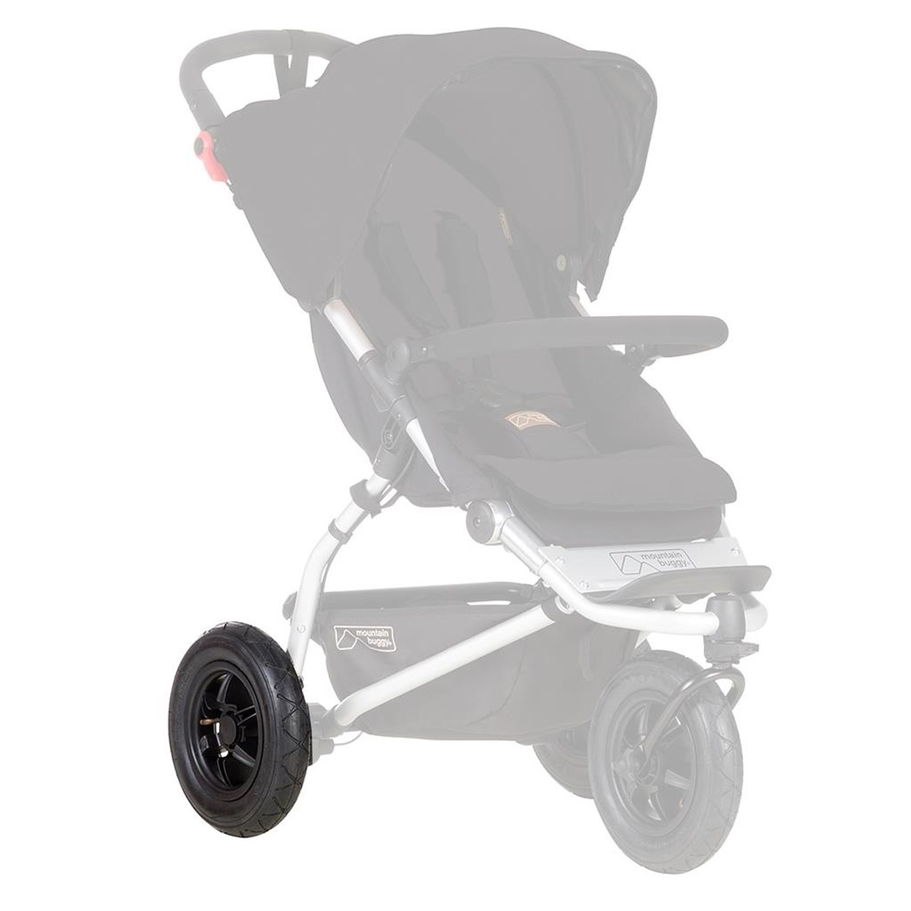 """Mountain Buggy 10"""" Swift 2015+ Rear Wheel with Fixed Axle at Baby Barn Discounts Replacement spare rear wheel for the Mountain Buggy Swift pram/ stroller. Only compatible with 2015+ swift buggies."""