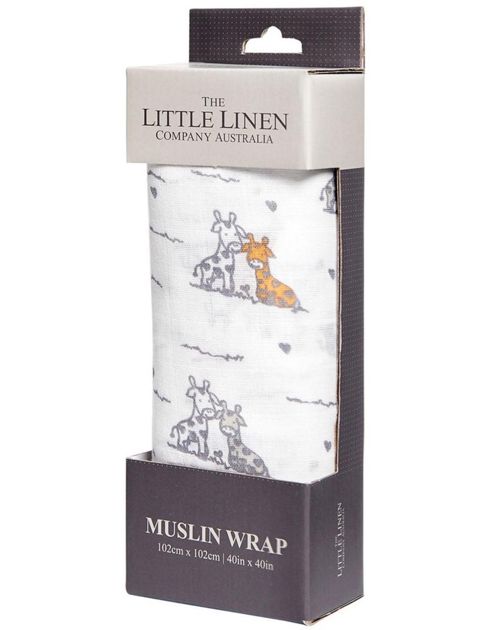 The Little Linen Muslin Wrap 102x102cm 1pk | Baby Barn Discounts The Little linen muslin cotton swaddle wrap size 102 x 102 cm.