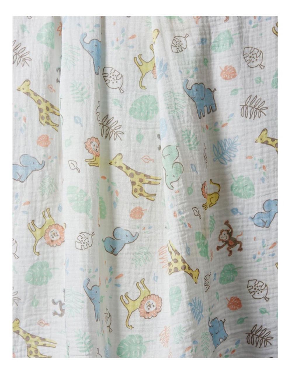 The Little Linen Muslin Wrap 102x102cm 1pk | Baby Barn Discounts