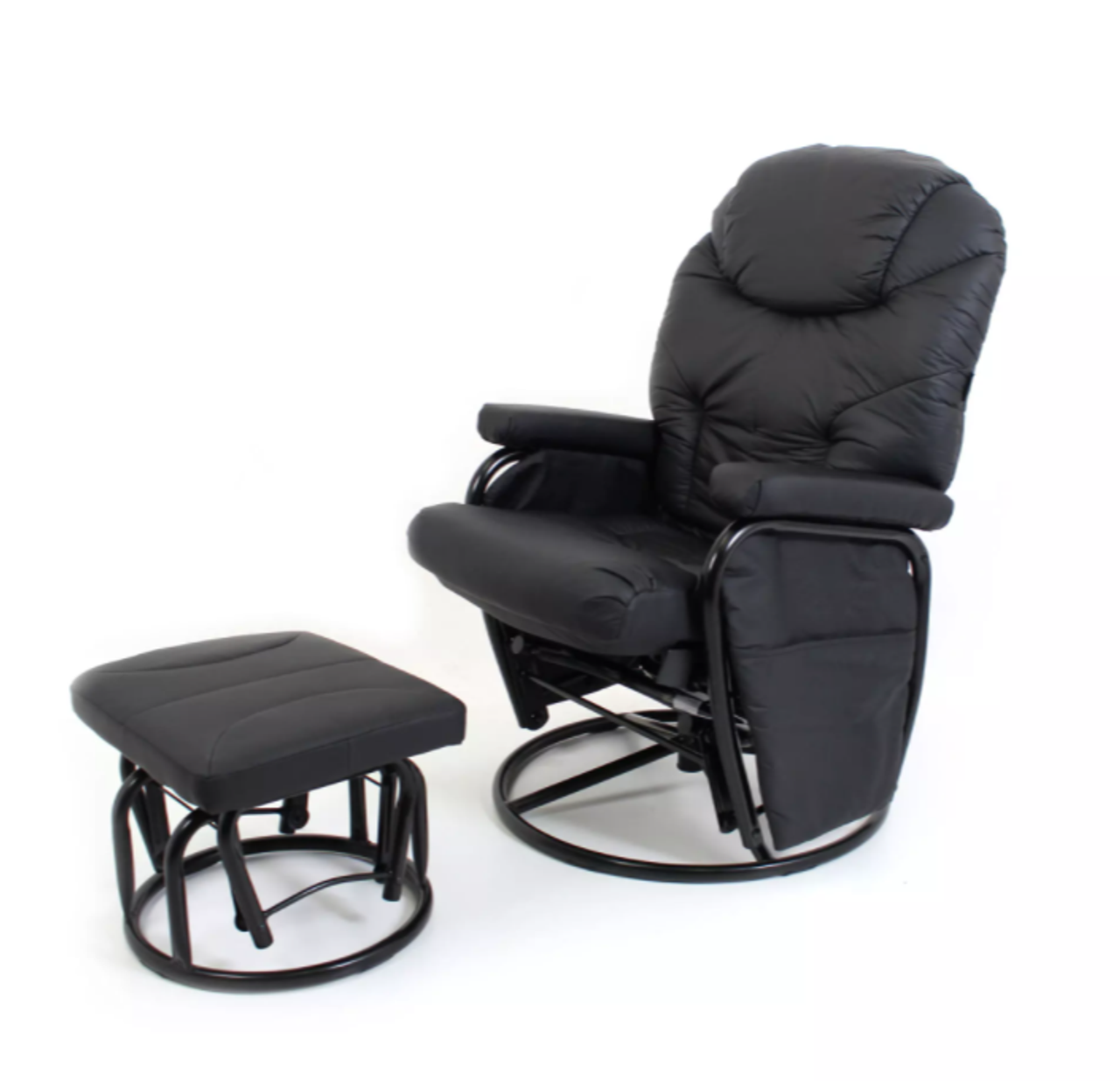 Valco Seville Glider Set Black at Baby Barn Discounts Primarily designed as a chair to assist nursing mothers, the gentle gliding motion and comfortable padding will help create the most relaxing environment.