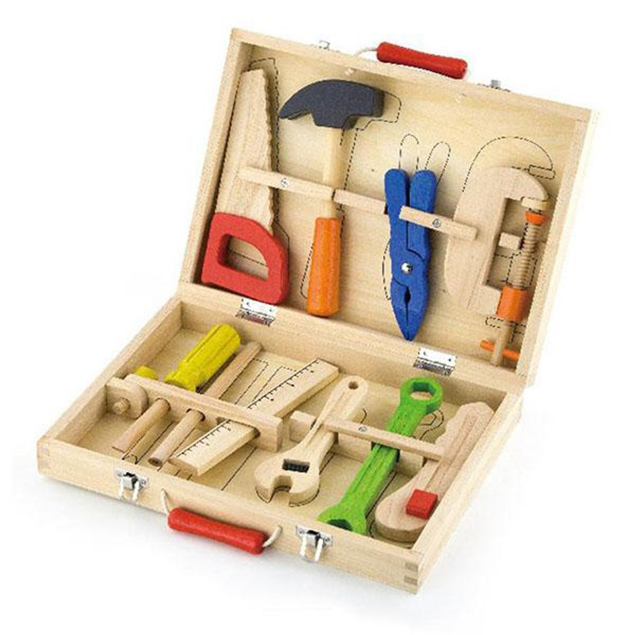 Viga Tool Box 10pcs at Baby Barn Discounts Tool Box set from Viga Toys will have your little carpenter at work in no time!