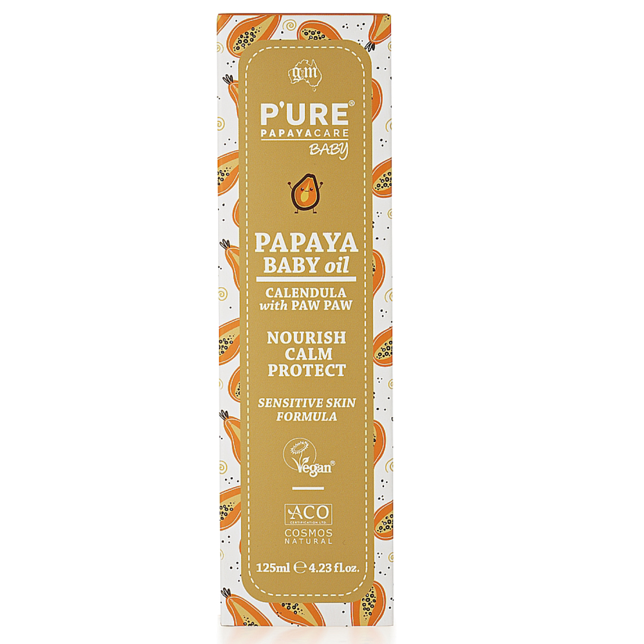 P'ure Papayacare Baby Oil Calendula with Paw Paw 125ml at Baby Barn Discounts Gently soothes, moisturises, nourishes and protects your baby's delicate skin.