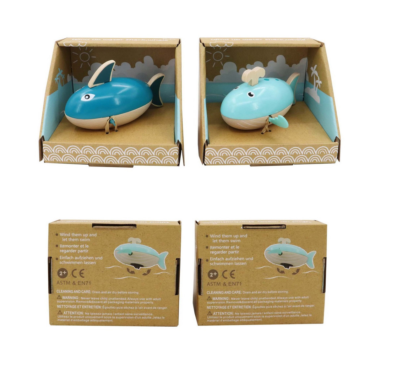 Kaper Kidz Wooden Wind Up Water Shark & Whale at Baby Barn Discounts Bath time made fun with these Kaper Kidz wooden whales & Sharks.