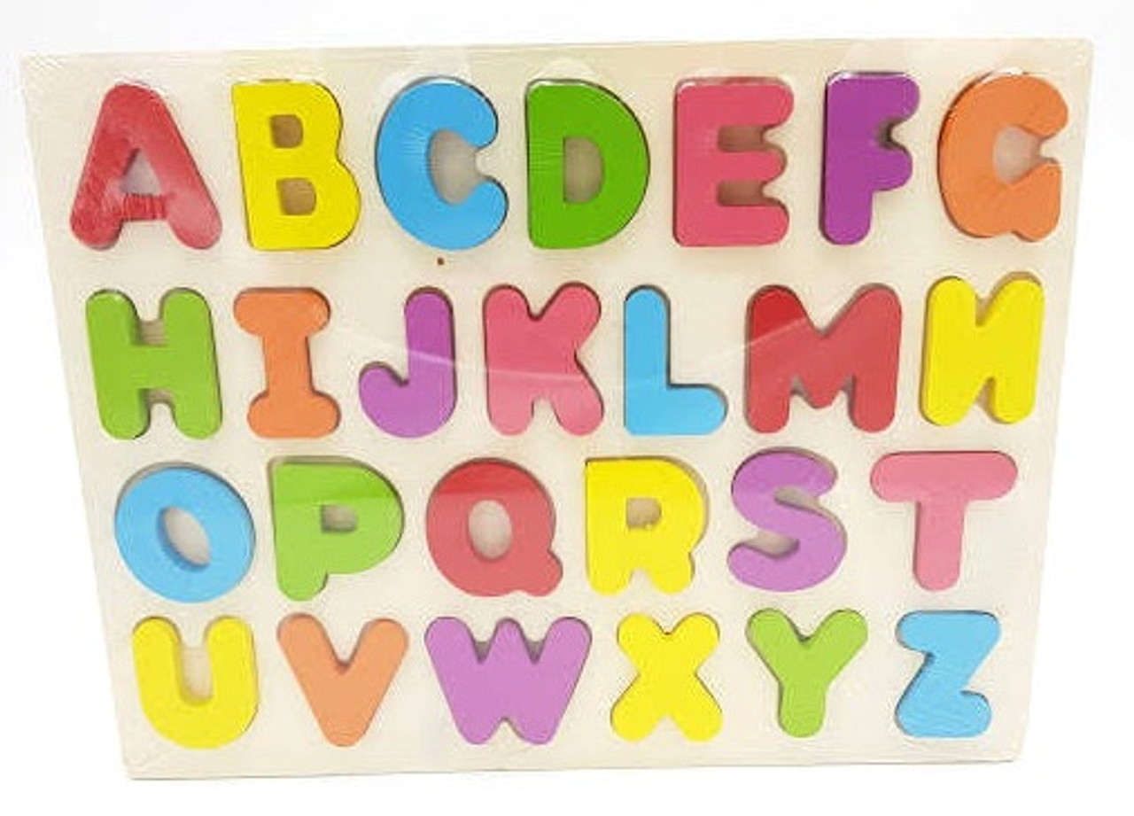 Lucky Tree- Wooden Puzzle- Uppercase Alphabet at Baby Barn Discounts The Lucky Tree Uppercase Puzzle is a colourful wooden puzzle, depicting all the letters of the alphabet in their uppercase form. This puzzle is perfect for young children learning just the alphabet.