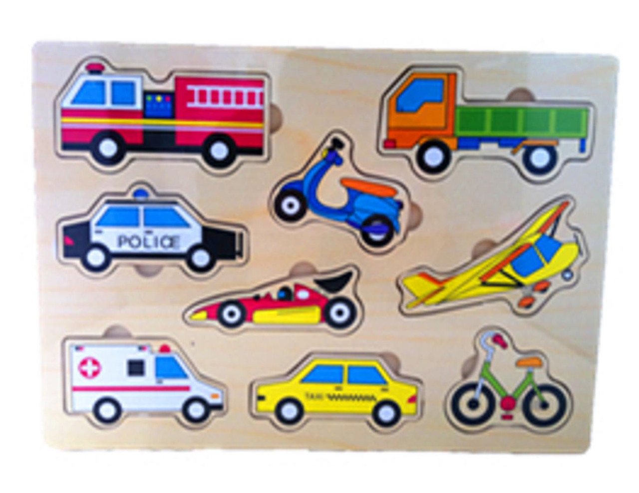 Lucky Tree- Wooden Puzzle- Transport at Baby Barn Discounts The Lucky Tree Transport puzzle a fantastic wooden puzzle featuring all the different ways to travel.  This puzzle is perfect for little ones that are interested in anything with wheels.