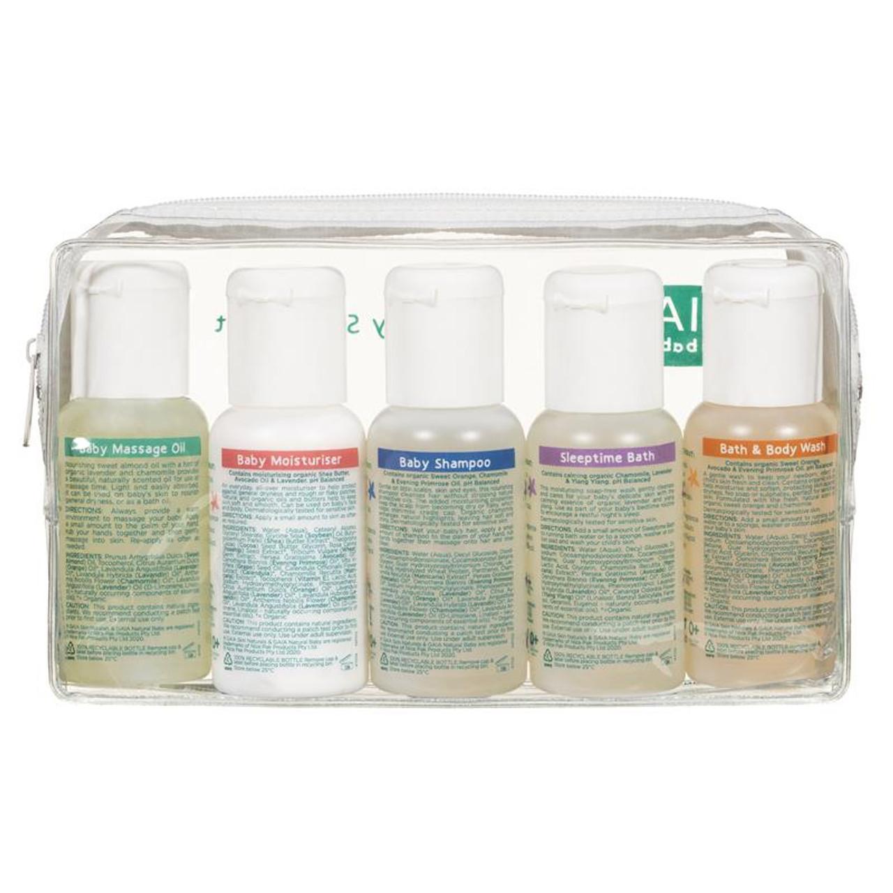 Gaia Natural Baby 50ml 5pk Starter Kit at Baby Barn Discounts 50mL refillable mini flip-top bottles of GAIA Natural Baby