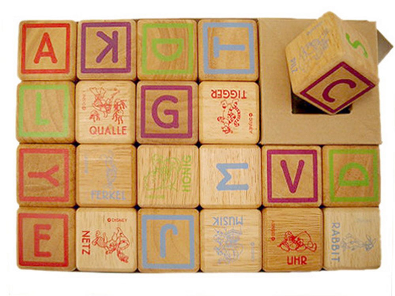 Lucky Tree- 21 Piece Wooden Block Set at Baby Barn Discounts A traditional set of 21 wooden blocks by Lucky Tree, with letters and pictures on each side. This block set is  the perfect addition to any little one's toybox.