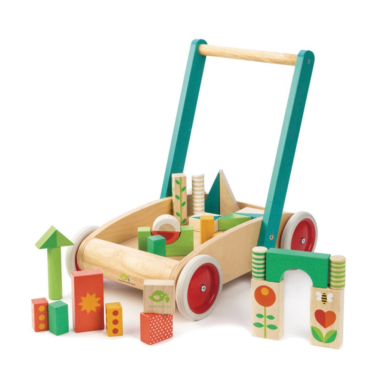 Tender Leaf Toys Wooden Wagon with Blocks at Baby Barn Discounts Watch your little one take their first steps with Tender Leaf's classic baby walker.