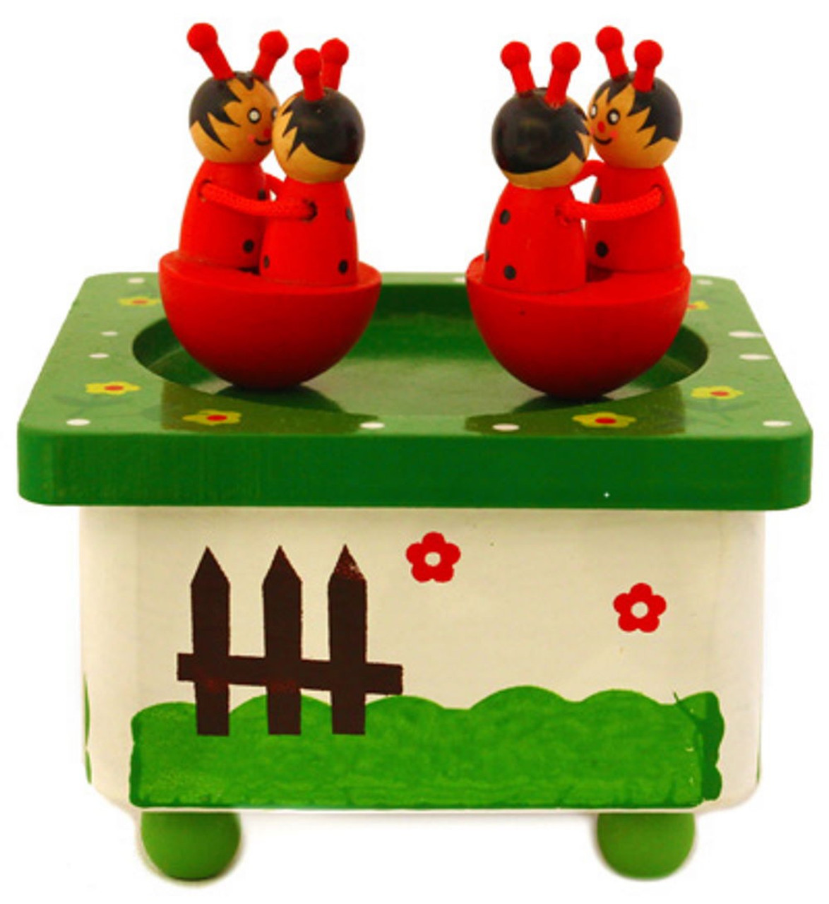 Lucky Tree Wooden Music Box at Baby Barn Discounts This beautiful wooden music box by Lucky Tree is a fantastic toy. Just turn the key at the bottom of the box and watch the animals dance and spin to music