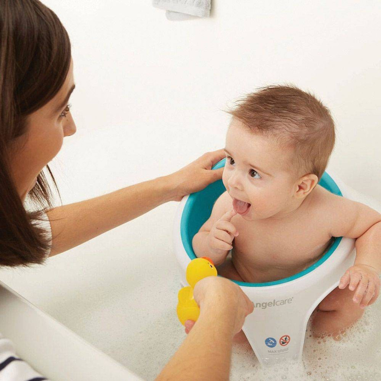 Angelcare Bath Ring Seat at Baby Barn Discounts Parents have the choice of bathing or showering their little one, secure in the knowledge the Baby Bath Seat will help to look after baby.