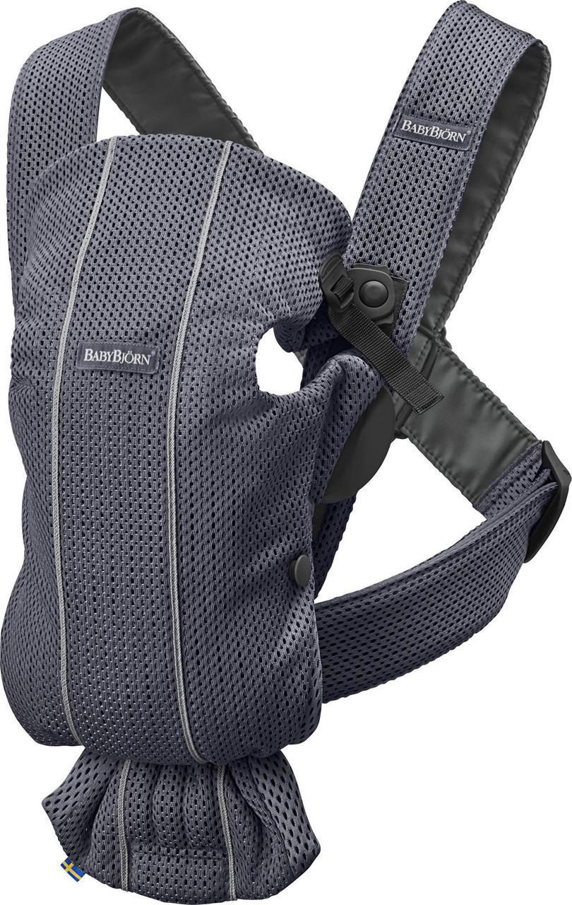 Baby Bjorn Baby Carrier Mini 3D Mesh at Baby Barn Discounts Baby Bjorn Carrier mini 3D mesh version lightweight soft and breathable for newborns.