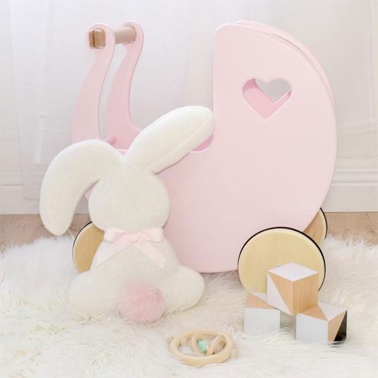 Lolli Living Character Knit Cushion Bunny at Baby Barn Discounts Add the perfect finishing touch with Lolli Living super sweet cotton knit bunny decorative cushion with fluffy pompom tail!