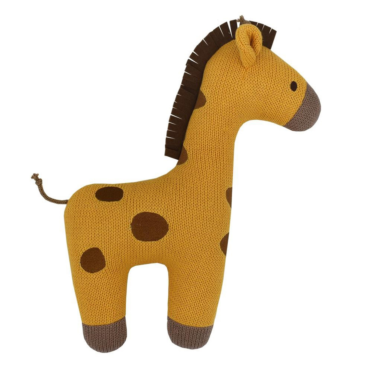 Lolli Living Character Knit Cushion Giraffe at Baby Barn Discounts Stylish knitted character cushion from Lolli Living.