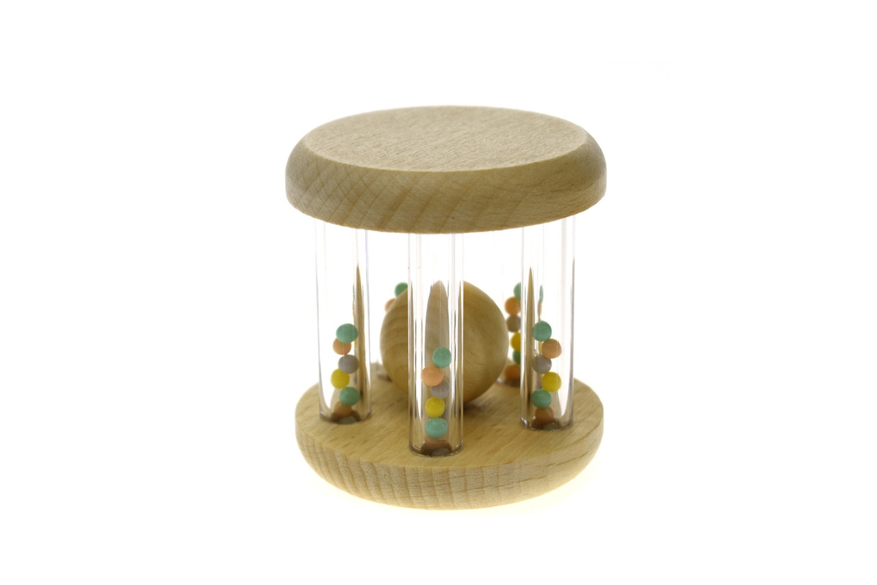 Kaper Kidz Wooden Calm & Breezy Rattle with Rainbow Bead   Baby Barn Discounts Kaper Kidz rattle is often a baby's first toy which will stimulate their senses and develop their awareness as they learn to grasp.