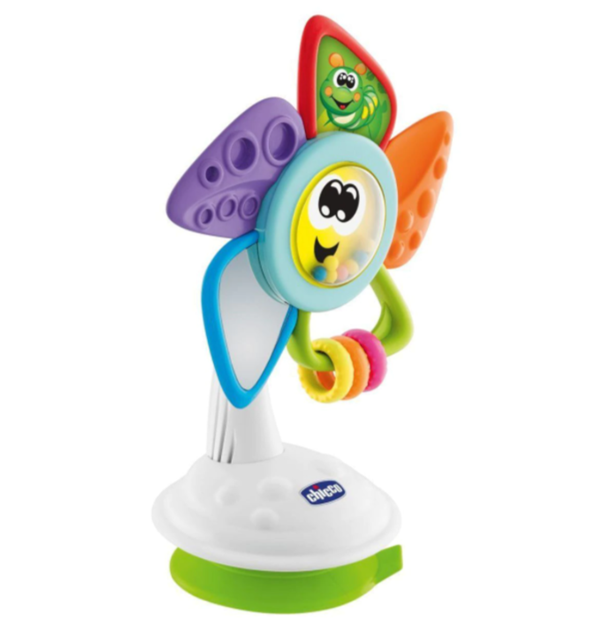 Chicco Will the Pinwheel Highchair Toy at Baby Barn Discounts Turn the Chicco flower as many times as you wish and discover all the activities!