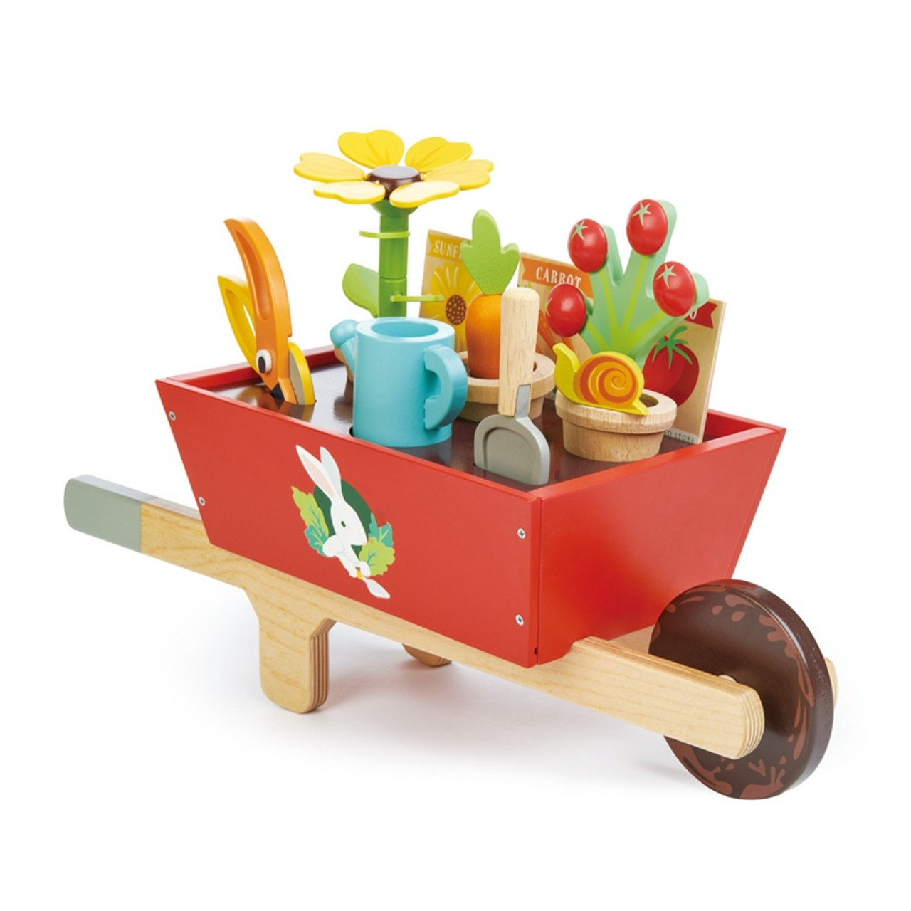 Tender Leaf Toys Garden Wheelbarrow Set at Baby Barn Discounts Tender Leaf Toys garden wheelbarrow is for all the budding gardeners to work on their plants.