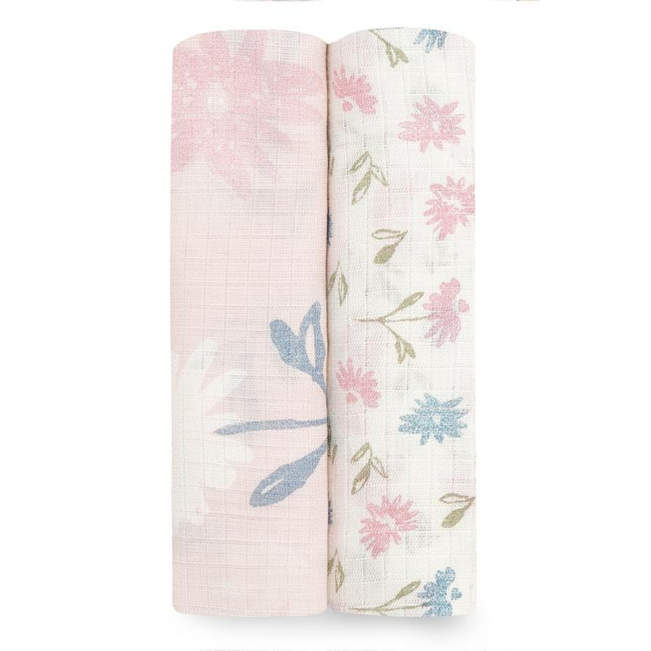Aden + Anais Silky Soft Bamboo Muslin Swaddle 2 Pack at Baby Barn Discounts This ultra soft set of traditional swaddles by Aden + Anais have been designed for their comforting breathability and touchable softness. With a variety of uses these swaddles are a baby essential.