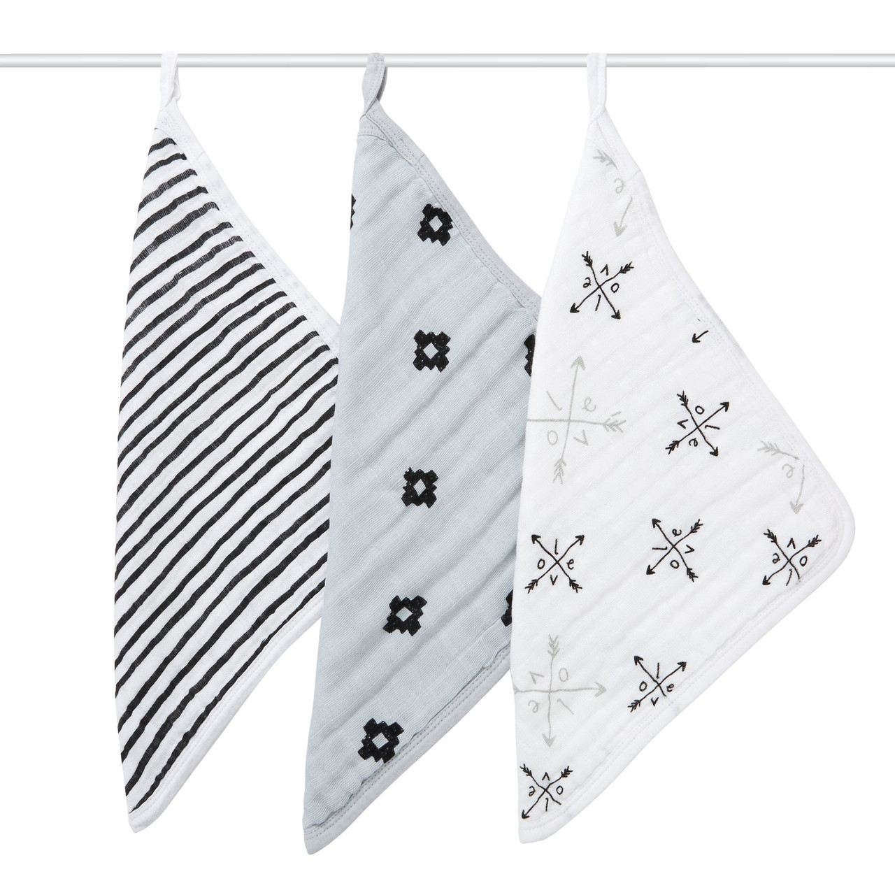 Aden + Anais Cotton Muslin Washcloth Set 3 Pack at Baby Barn Discounts The Aden + Anais Lovestruck Washcloths are made of soft cotton muslin. Designed to be gentle on sensitive newborn skin, they're a great addition at bathtime.