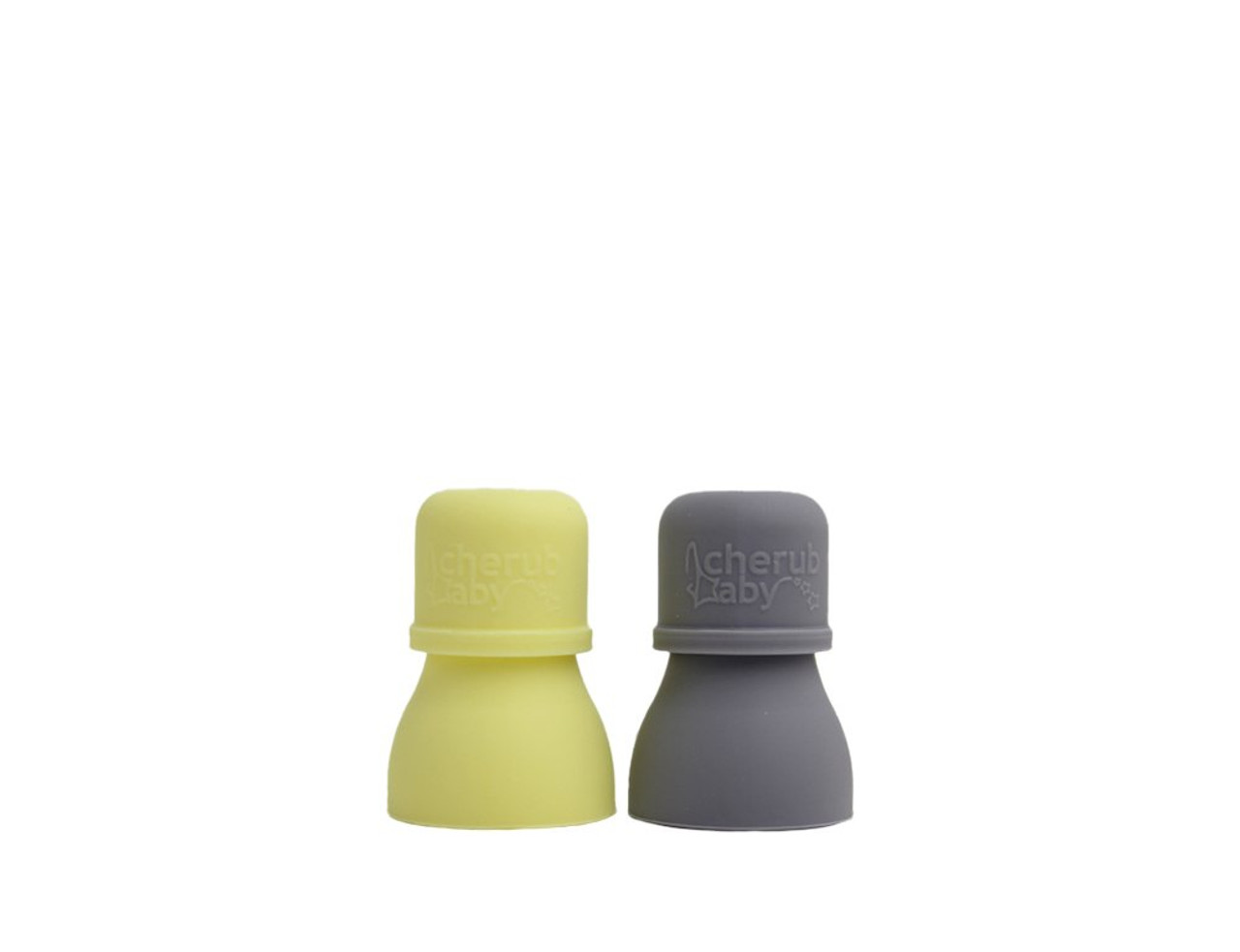 Cherub Baby Universal Food Pouch Spouts 2PK at Baby Barn Discounts Prevent spills and keep little mouths protected from sharp edges with these 100% food grade silicone spouts. Just pop them onto your favourite food pouches.