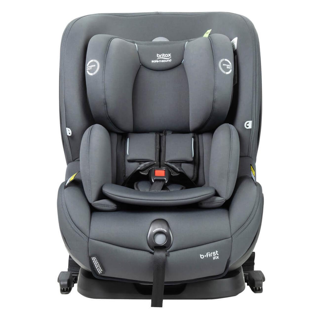 Britax Safe-n-Sound B-First ifix at Baby Barn Discounts Britax B First ifix convertible rearward facing baby seat.